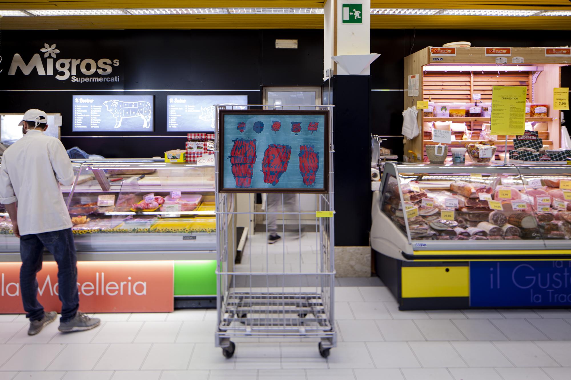 8- Pietro Consagra, Untitled - 10cents- Art At The Supermarket by Giuseppina Giordano- Zero Edition, Mazara del Vallo- ph Benito Frazzetta